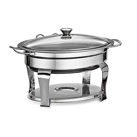 tramontina 174 stainless steel 4 2 qt chafing dish bed