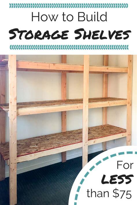 build storage shelves     diy