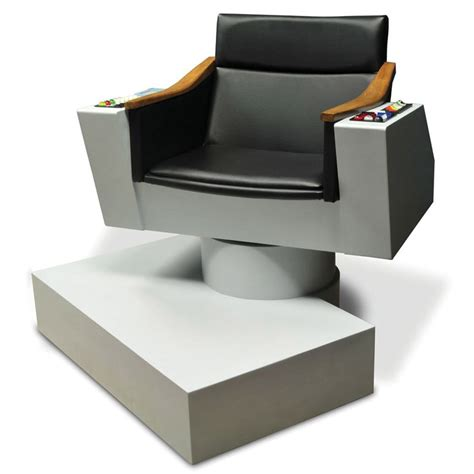 Star Trek Captains Chair by Lifesize Replica Of Captain Kirk S Chair From Star Trek