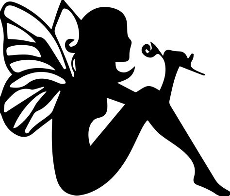fairy silhouette vector file image  stock photo