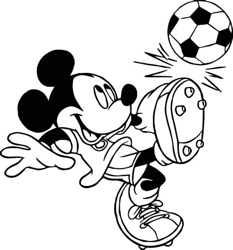 mickey mouse soccer coloring page soccer player mickey mouse kicks ball playing football