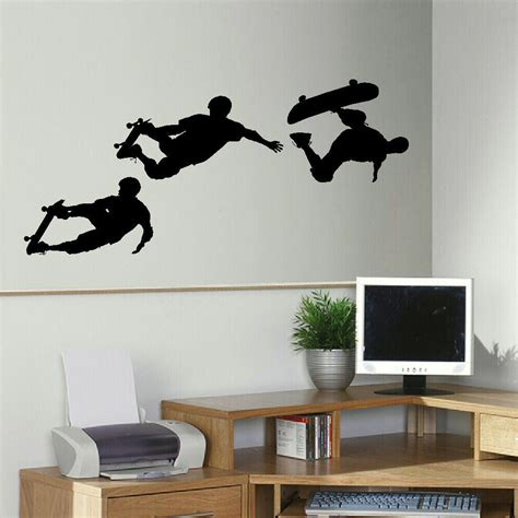 online get cheap skateboarding wall murals aliexpress com skateboard wall decal removable skateboarder wall sticker