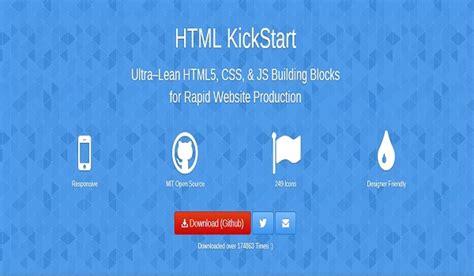 html kickstart themes 10 free web development tools for web developers singsys