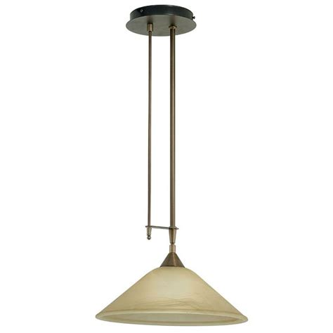 bronze glass pendant light glomar 3 light bronze trestle with chagne linen washed