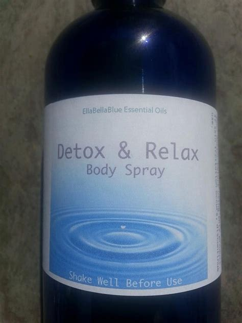 Detox Relax by Detox Relax Essential Spray By Msbellablue On Etsy
