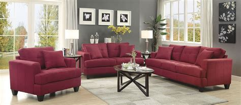red living room sets samuel red living room set 505185 coaster furniture