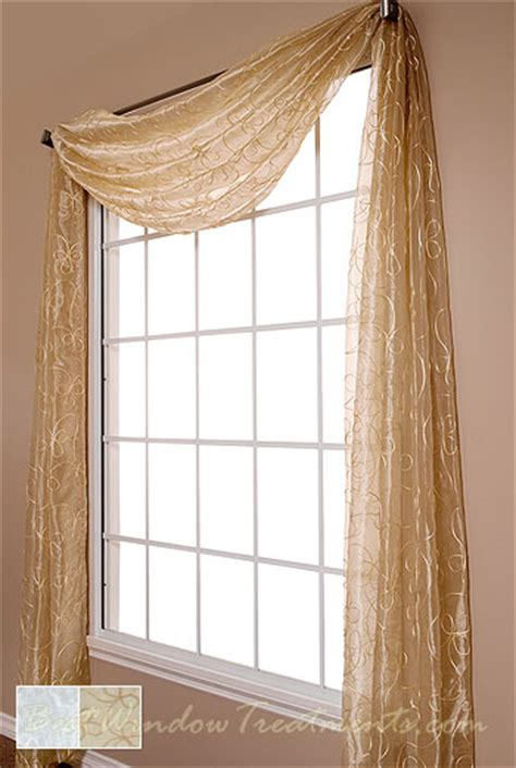 Window Topper Styles Lasandra Sheer Scarf Swag Window Topper Available In 2