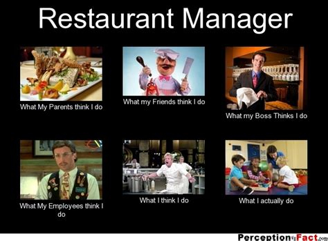 Meme Cafe - restaurant manager what people think i do what i