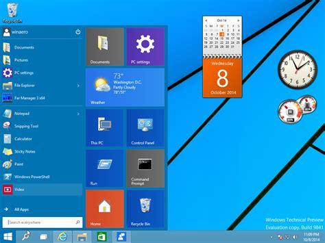 desktop gadgets and sidebar for windows 10 winaero