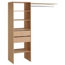 kit am 233 nagement placard en bois avec 2 tiroirs et 1
