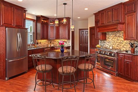 Kitchen Ideas With Cherry Wood Cabinets 25 Cherry Wood Kitchens Cabinet Designs Ideas Designing Idea