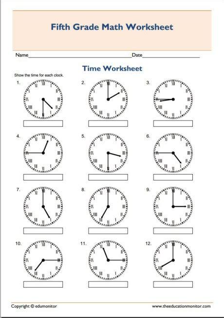 Telling Time Printable