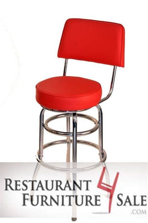 restaurant style bar stools red retro style bar stool with double chrome ring base and