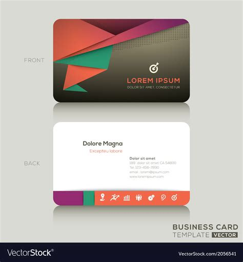 royalty free business card templates modern business cards design template royalty free vector