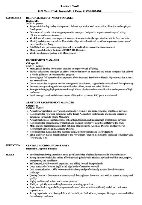 recruiting manager resume template buyretina us