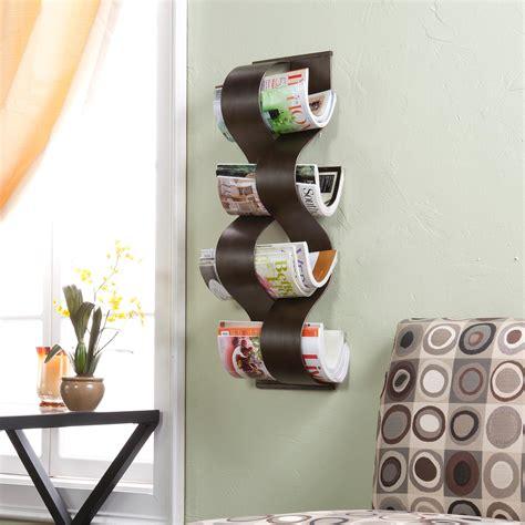 Towel Rack Ideas For Bathroom amazon com southern enterprises wave wall mount magazine