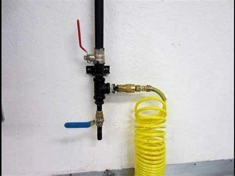 shop compressor pipe setup candi s grooming lounge vision board garage shop garage design
