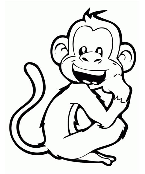 free printable monkey template 70 animal colouring pages free print free