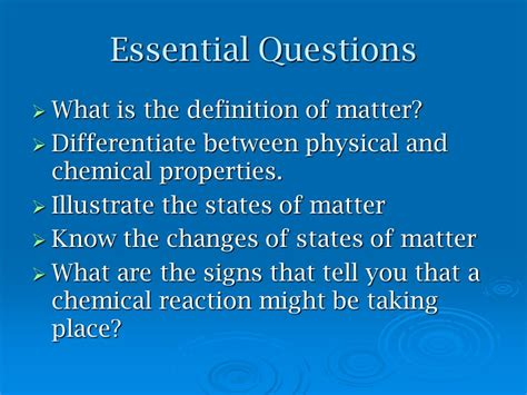 what is matter meaning essential questions what is the definition of matter