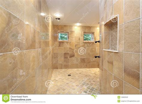 shower  marble walls stock image image  suburb
