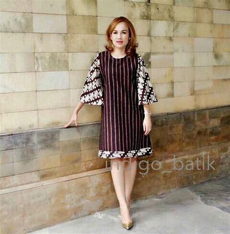 Blouse Batik Wanita Katun Sogan Lurik batik dress batik cantik batik dress