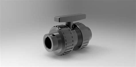 Valve Pvc Polos 34 pvc 34 valve free 3d model cgtrader