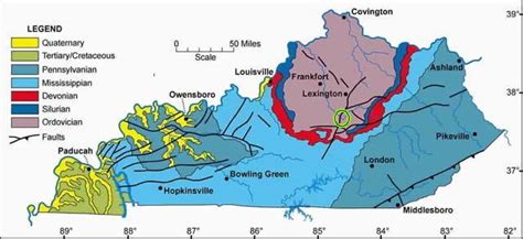 kentucky geography map gc35fpd kentucky river fault c nelson ky earthcache
