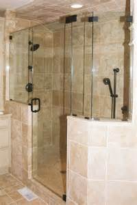 Shower Enclosures With Half Wall A Glass Act Shower Doors Frameless Shower Doors In South