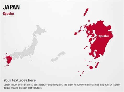 templates powerpoint japan kyushu japan powerpoint map slides kyushu japan map