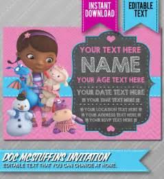 doc mcstuffins invitation template doc mcstuffins birthday planning ideas supplies