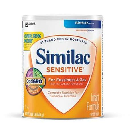 difference between similac sensitive and total comfort similac sensitive infant formula with from walmart
