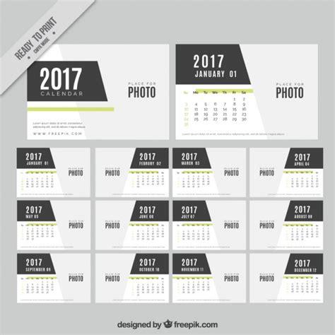 Calendario Moderno Modern Calendar Template Vector Free