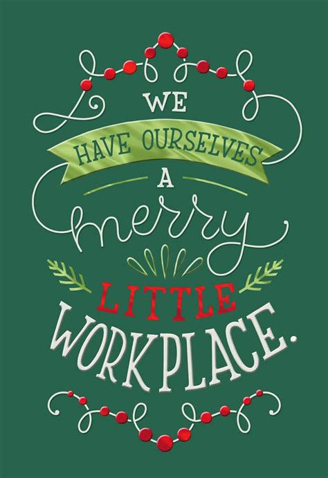 merry  workplace christmas card  coworker greeting cards hallmark