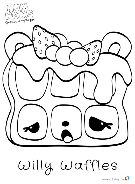 Coloring Page Num Noms num noms coloring pages free printable coloring pages