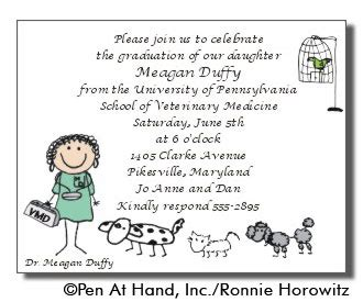 thank you letter after veterinary vet graduation personalized invitations by the