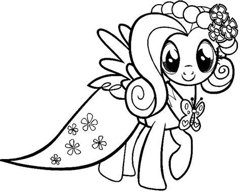 Ausmalbilder My Little Pony Kostenlos Malvorlagen Zum My Pony Fluttershy Color In