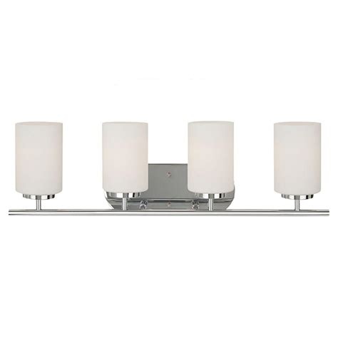 Sea Gull Vanity Lighting Sea Gull Lighting Oslo 4 Light Chrome Vanity Light 41163 05 The Home Depot