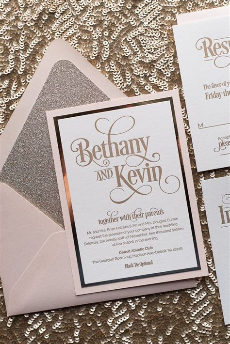 Special Package Heavenly Blush best 25 glitter wedding invitations ideas on gold wedding invitations foil sted