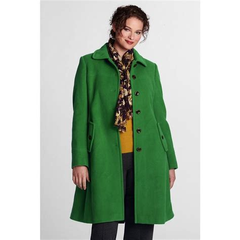 plus size wool swing coat lands end women s plus size luxe wool swing car coat
