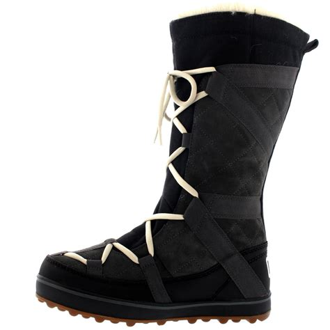 womens sorel snow boots womens sorel glacy explorer fur lined winter snow