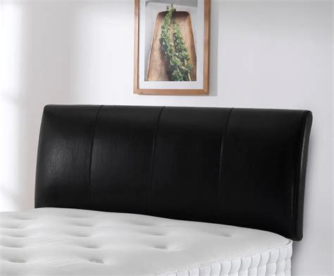 leather headboard murano 4ft black full hide leather headboard special offer