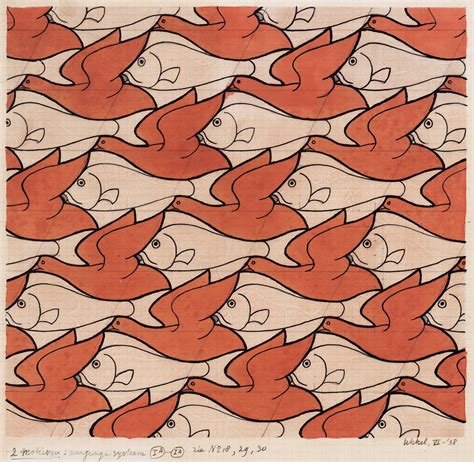 tessellation fish template escher tessellations fish images