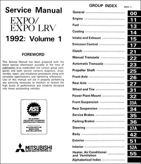 service manual installing a 1996 mitsubishi expo lrv timing belt tensioner timing belts 1992 mitsubishi expo expo lrv body manual original