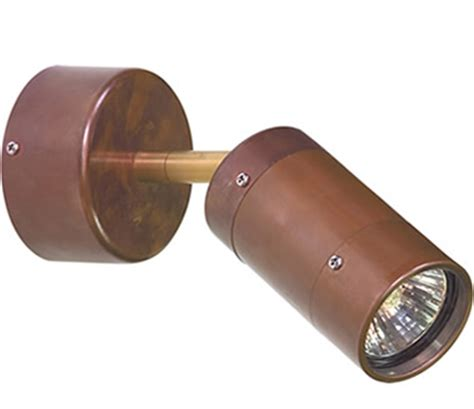 comma single adjustable exterior wall light copper