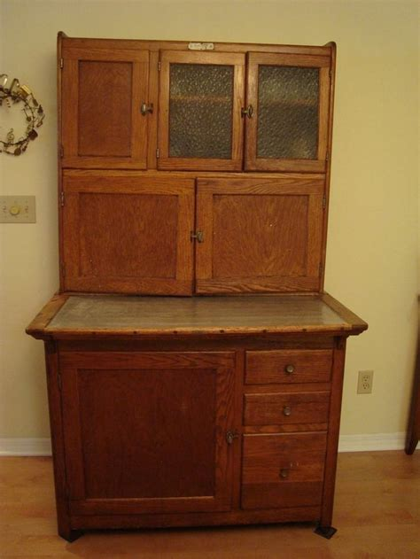 Antique Hoosier Cabinets by Antique Oak Hoosier Cabinet
