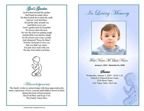 funeral program template funeral program templates blue