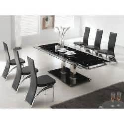 glass kitchen tables sets glass dining table and chairs ebay