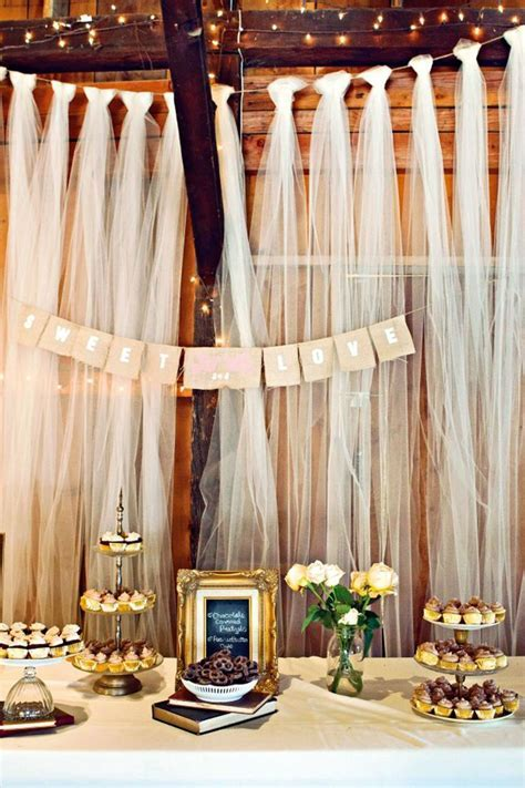 Tulle Wedding Decor Details; Wedding Tulle (BridesMagazine