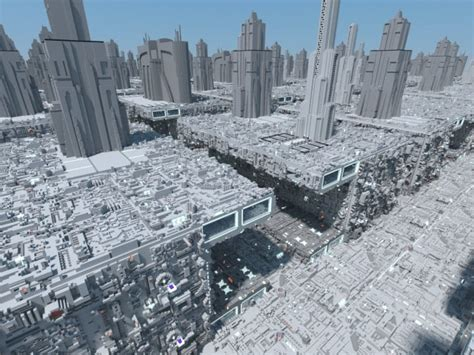 coruscant star wars minecraft building