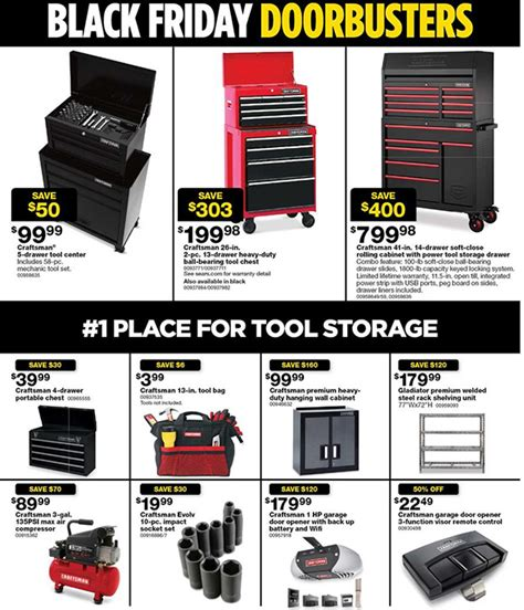 black friday tool cabinet deals sears black friday 2017 tool deals